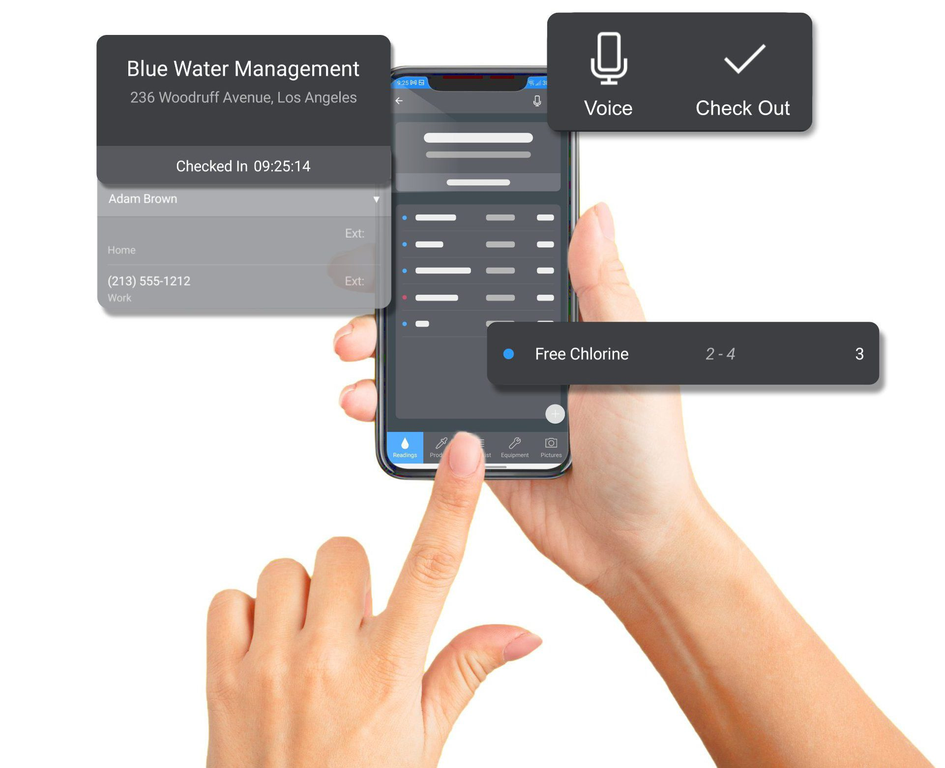 Customer and route management on an iPhone using Wise Software - Enterprise.