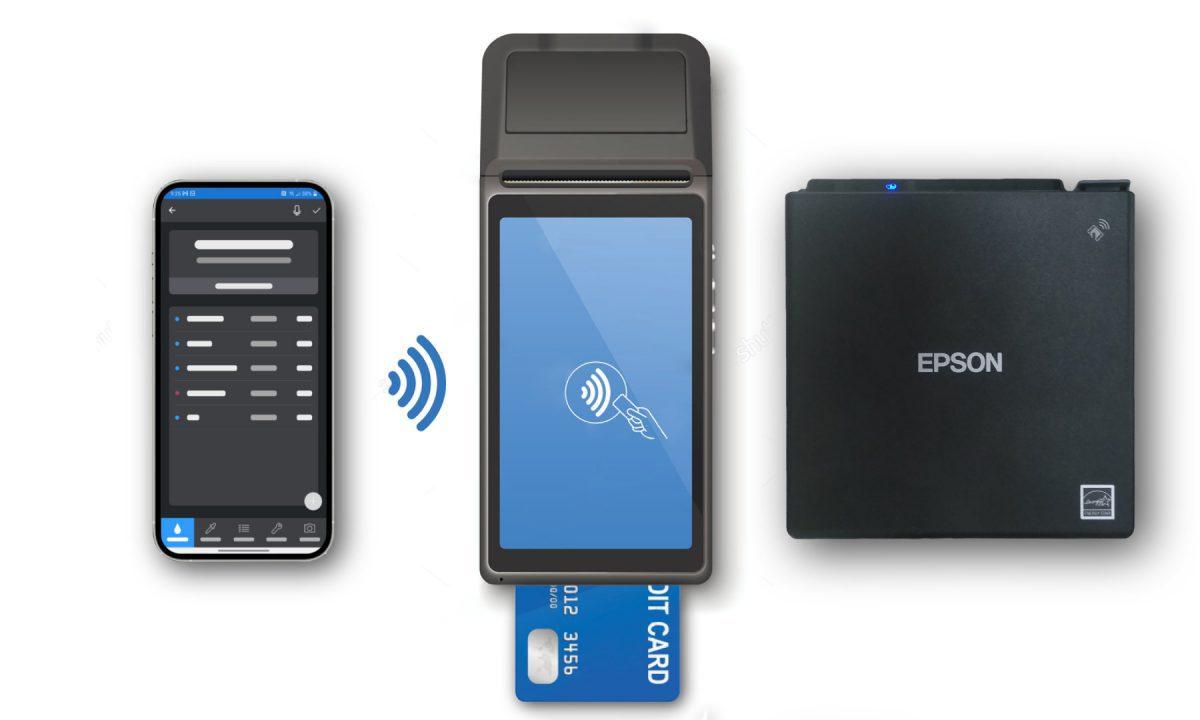 Phone, chip reader and printer